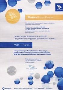 Novitus najlepszy Biznes Partner