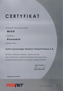 certyfikat Posnet